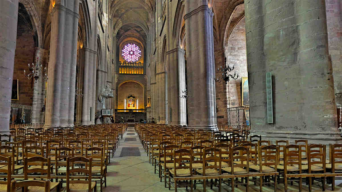 visite, panoramique, cathedrale, rodez